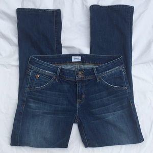 Hudson flap pocket blue jeans size 29 USA heemed